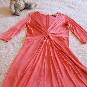 ISSA LONDON Peach/Melon Silk Dress